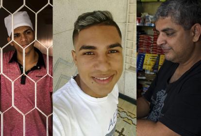 Eliel Riccioli, sobrino de la víctima; Daniel Silva, señalado del asesinato; y Álex Montes, propietario de la tienda donde trabajó el venezolano.