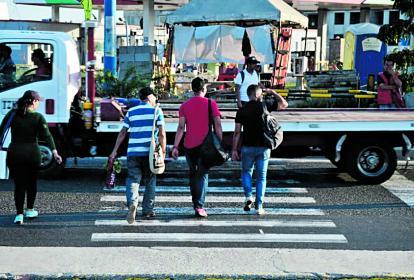 Los reguladores de tránsito estuvieron hasta el 31 de diciembre.