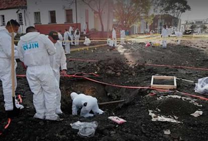 Durante todo el día de ayer los investigadores de la Dijín estuvieron tomando muestras en el sitio.
