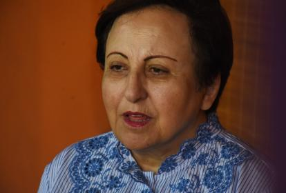 La abogada Shirin Ebadi estuvo en el cierre del Hay Festival ayer.