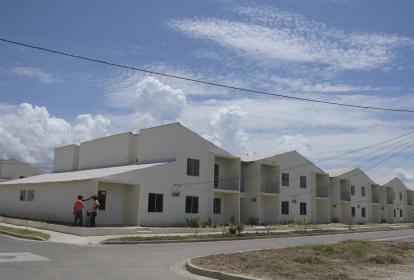 Proyecto de viviendas nuevas en Campo de la Cruz, sur del Atlántico.