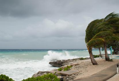 Así se viven los huracanes en las zonas costeras.