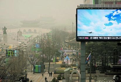 En Seúl, Corea del Sur, los habitantes conviven con altos grados de contaminación.