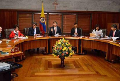 Vista de una sesión de la Corte Constitucional , la cual ya se había pronunciado sobre una de las seis objeciones formuladas por el presidente Iván Duque.