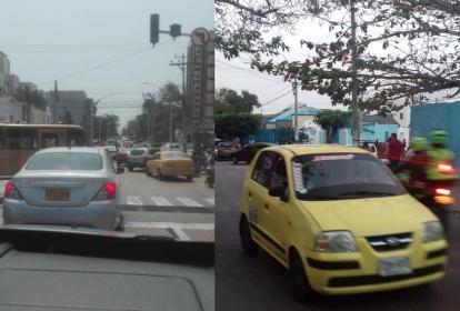 Reporte de ciudadanos de la carrera 50 con calles 75  y 74/ Salida de la Escuela Normal Superior La Hacienda.