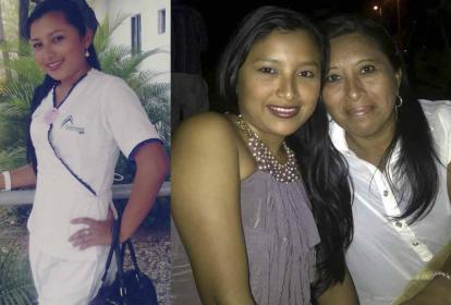La joven, que hoy tendría 29 años, con su uniforme. (A la derecha) en compañía de su mamá, Zoraida Martínez.