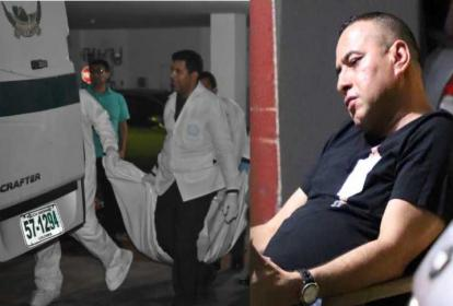 El cuerpo de Aracelis Amador es trasladado por personal del CTI. En la siguiente foto, el capturado Jorge Eliécer Vélez Amador, capturado.