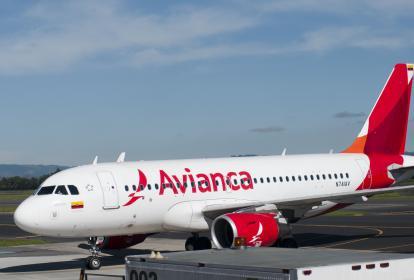 Aeronave de la aerolínea Avianca en Colombia.