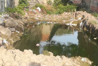 Esta habría sido la excavación de la zona en la que hoy se concentran las aguas negras.