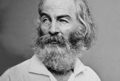 El poeta Walt Whitman (1819–1892).