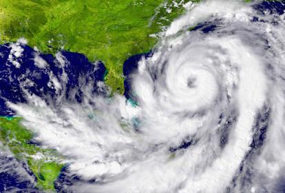 Imagen del epicentro de un huracán en el Caribe, cuyo impacto suele estar lejos de Colombia.