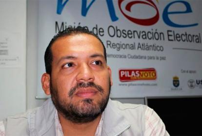 Diógenes Rosero, candidato a la alcaldía de Barranquilla por el Partido Verde.
