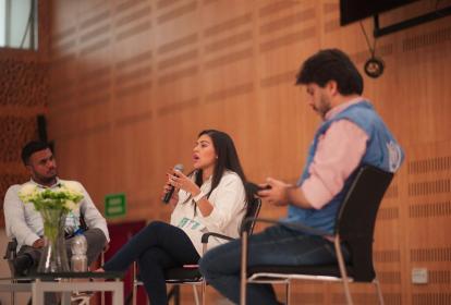 Aspecto del panel que se desarrolló en el auditorio de la Universidad del Atlántico.