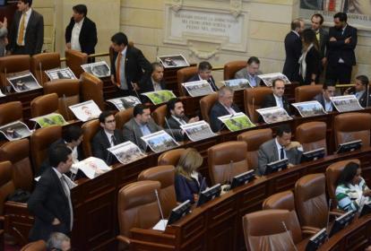 Aspecto de la Cámara de Representantes en el último día del pasado periodo legislativo en el Congreso.