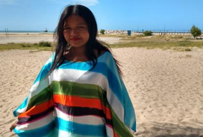 """Fila Rosa Jarariyú, quien hoy tiene 19 años. """"Me dicen que después de la fama por qué estoy en estas condiciones"""", asegura."""