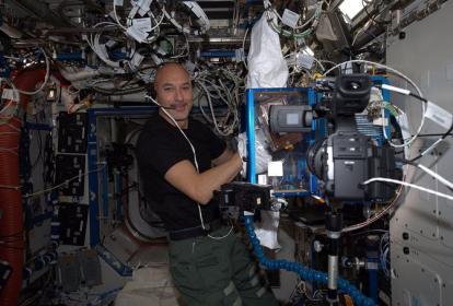 El astronauta italiano Luca Parmitano.