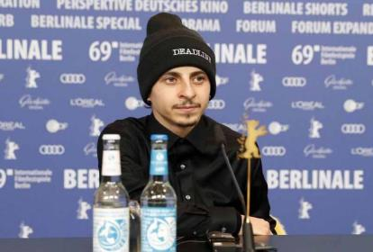 Moisés Arias en una rueda de prensa en la pasada Berlinale.