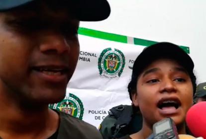 Arnovis Barros y Nailibeth Martínez, la pareja liberada en La Guajira