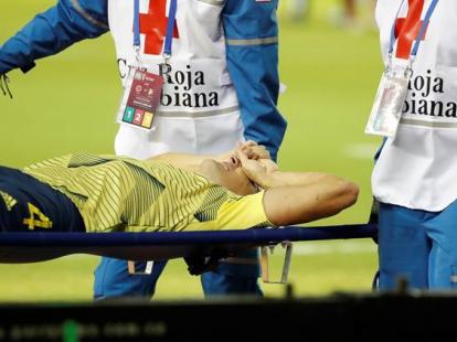 La impactante lesión de Arias en el duelo entre Colombia y Venezuela