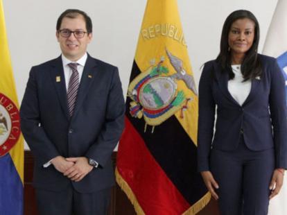 Resultado de imagen de fiscal de colombia en Ecuador