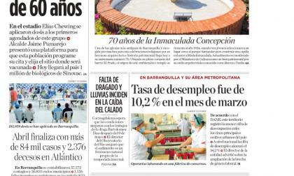 En Barranquilla ya vacunan a mayores de 60 años