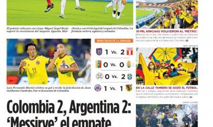 Colombia 2, Argentina 2: 'Messirve' el empate