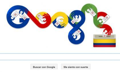 Doodle de Google dedicado a las elecciones en Colombia