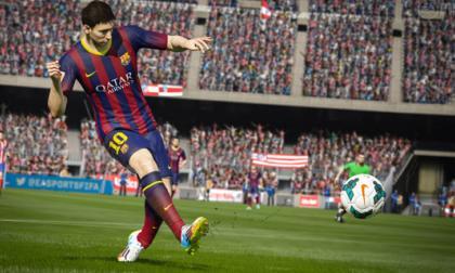 El jugador del Barcelona FC Lionel Messi, junto a un soldado de Call Of Dutty.