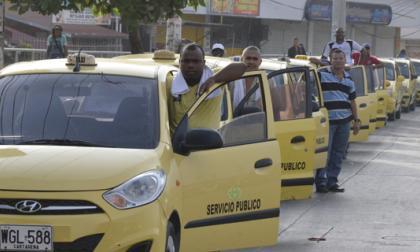 Taxistas de Barranquilla y Cartagena apoyaron paro nacional