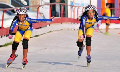Las gemelas Gómez Álvarez durante su entrenamiento.