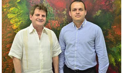 El director científico de la Clínica, Luis Escaf, junto al gerente de la misma, Jorge Martínez.