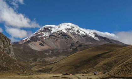 Volcán de Chimborazo en Ecuador.