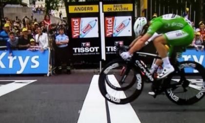 Imagen que permitió darle el triunfo al británico Mark Cavendish.