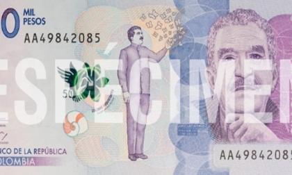 El nuevo billete de $50.000 rinde homenaje a Gabo y a su tierra natal, Aracataca.