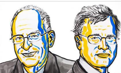 Los economistas  Oliver Hart (i) y Bengt Holmström (d), ganadores del premio Nobel de Economía 2016.