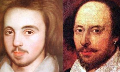 Christopher Marlowe y William Shakespeare.