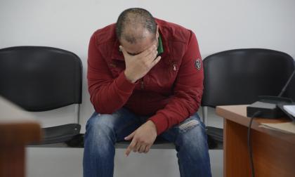 Cristian Rymel Yurgaky Rey, durante el comienzo de la audiencia de imputación de cargos.