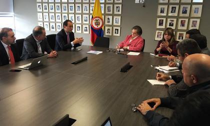 Desarrollo de la reunión de ayer, en Bogotá.