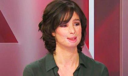 Natalia Ponce de León durante una entrevista.