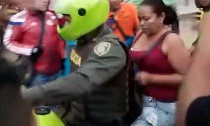 La mujer fue conducida    a la URI por la Policía.