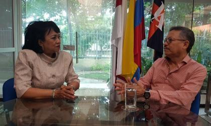 En video | Carlos Prasca visita la Uniatlántico en su primer día como rector