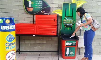 Uno de los 420 contenedores instalados en el país por parte de la corporación.
