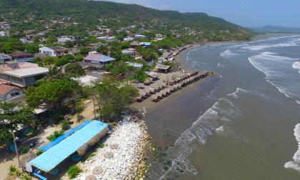 Playas de Puerto Colombia vistas desde el aire.
