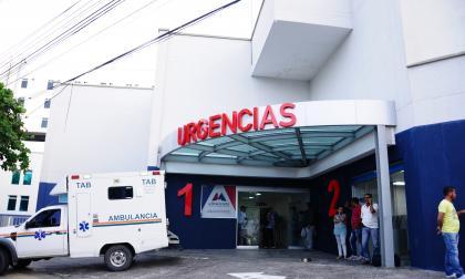 Zona de urgencias de la Clínica La Misericordia, en el norte de Barranquilla.