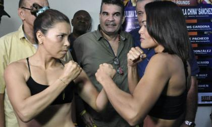 Liliana Palmera y Alys Sánchez se vieron en la báscula