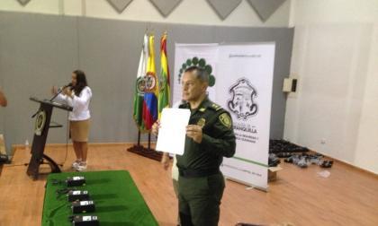 El general Mariano Botero Coy durante el evento que se llevó a cabo en la mañana de este lunes.