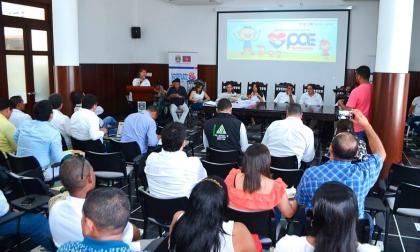 Audiencia de la adjudicación del PAE, el pasado viernes en Santa Marta.
