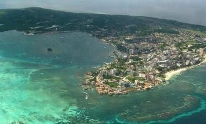 Panorámica de la isla de San Andrés.