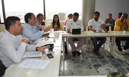 El Comité de Justicia Transicional durante la reunión.