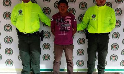 El capturado Máximo Antonio Parra Paz.